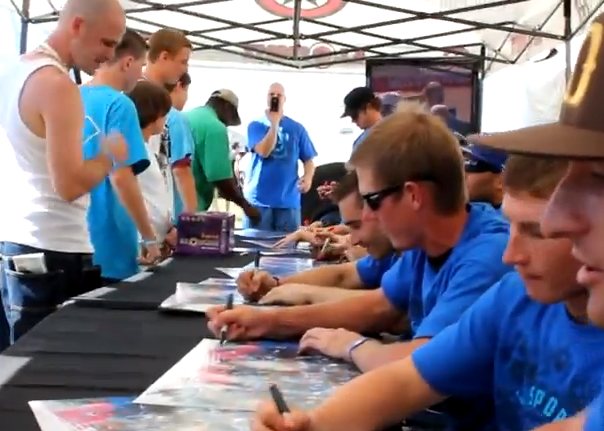 Tampa Bay Damage Signing @ GI Sportz Booth – 2011 PSP World Cup of Paintball