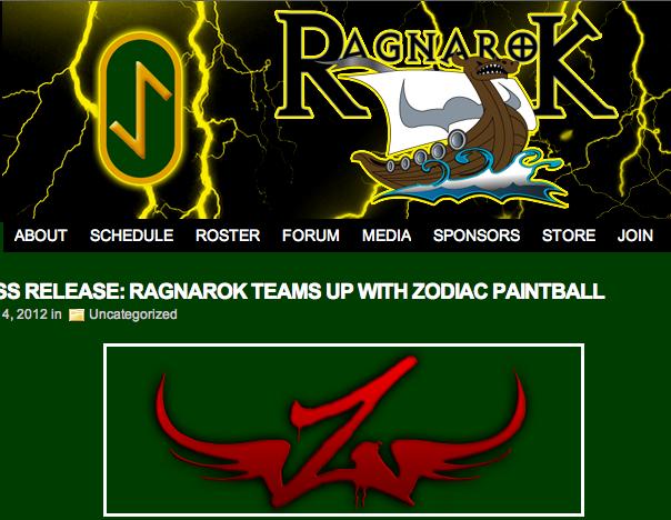 RAGNAROK TEAMS UP WITH ZODIAC PAINTBALL