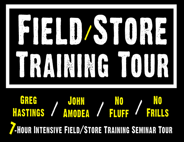 The Greg Hastings/John Amodea Field/Store Training Tour – It's Not Quite 1-1 Training, But It's Close