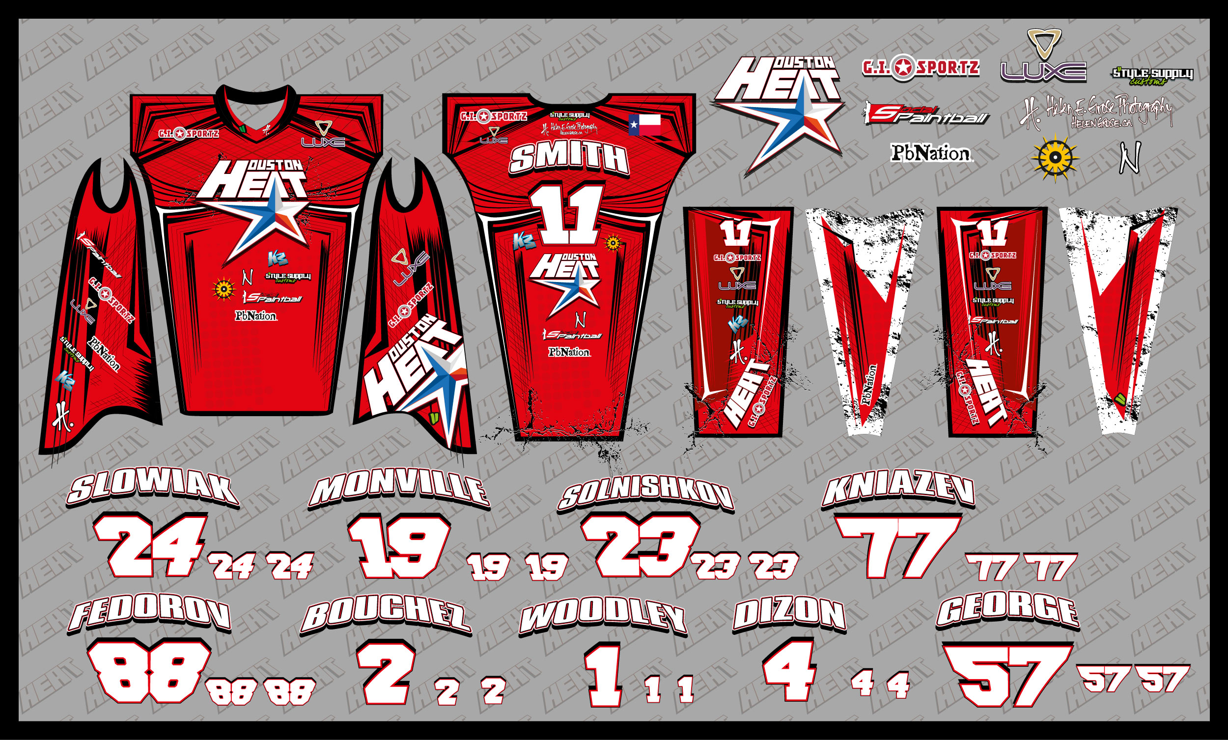 7782011b7 2012 Houston Heat Paintball Jersey - Texas Edition - Social Paintball