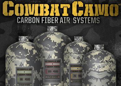 Guerrilla Air Introduces New Combat Camo Carbon Fiber Air Systems