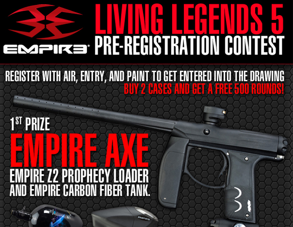 Empire Evil Paintballs named official event paint of CPX's Living Legends 5