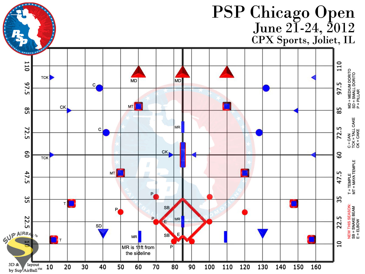 2012 PSP Chicago Open Field Layout Released – Diamond Added