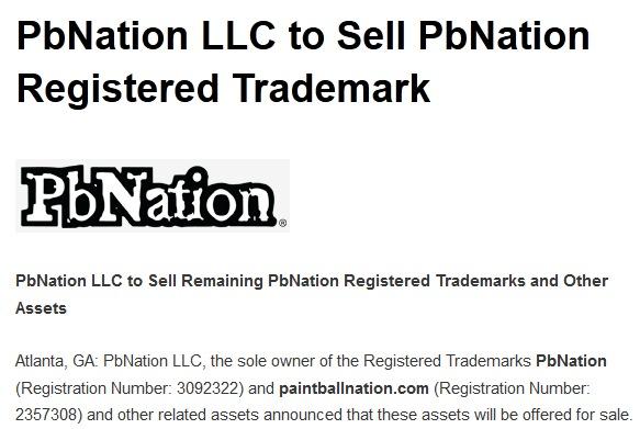 Breaking News: PbNation Registered Trademark for Sale