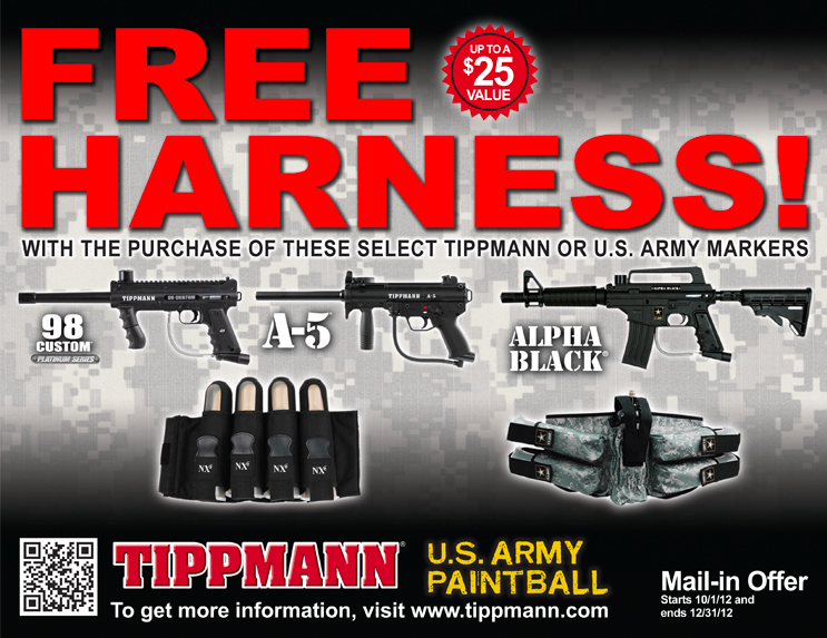 Tippmann Offers Free Harness with Purchase of Select Markers
