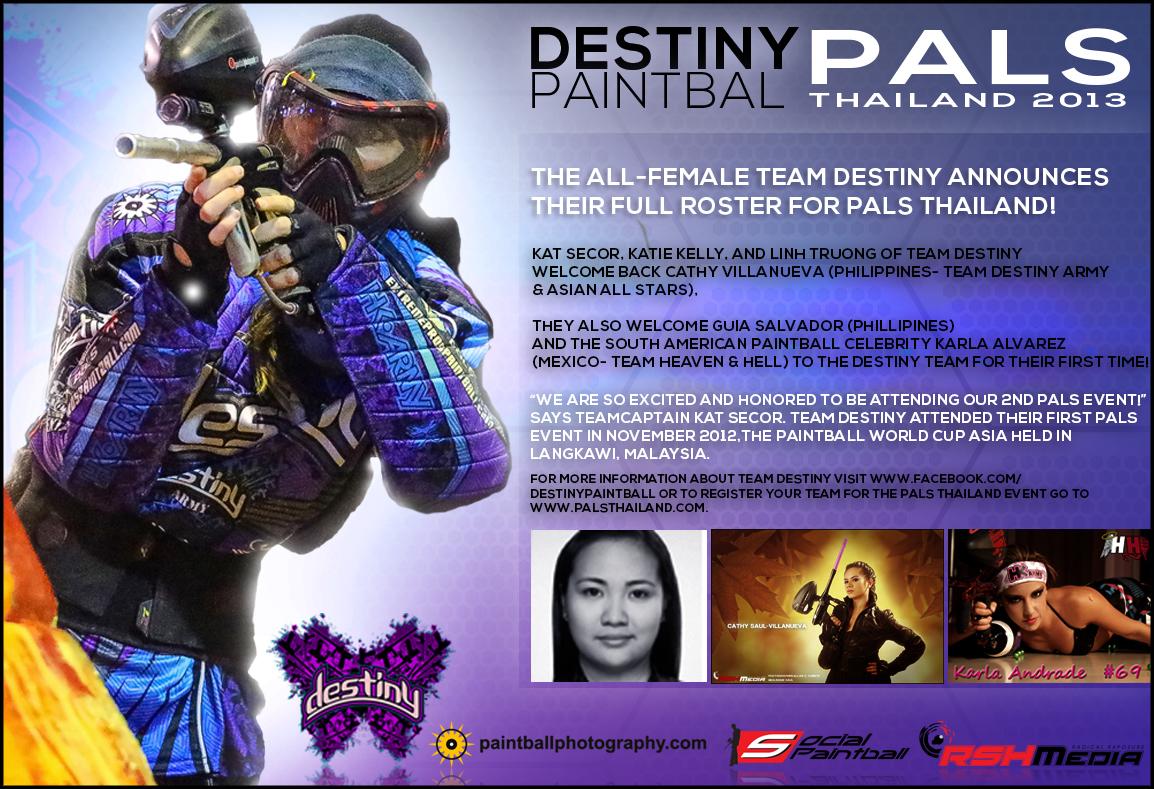Team Destiny Announces Roster for 2013 PALS Thailand