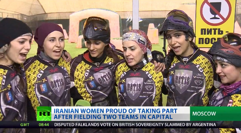 Arena Moscow Paintball Girls Cup 2013 – News Coverage