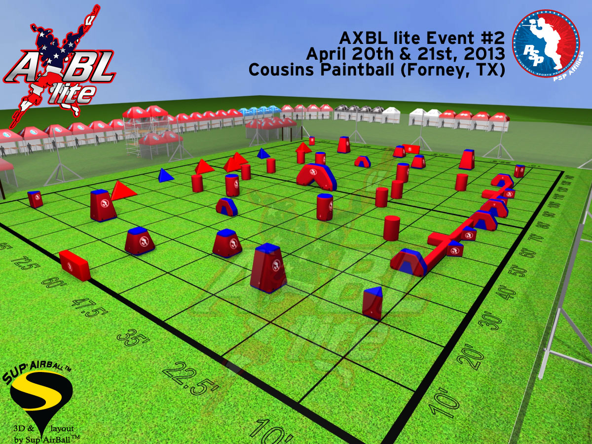 2013 AXBL-Lite G.I. Sportz Open, Event #2 Field Layout Released