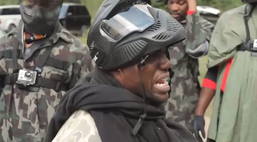 Kevin Hart and Drake Play Paintball