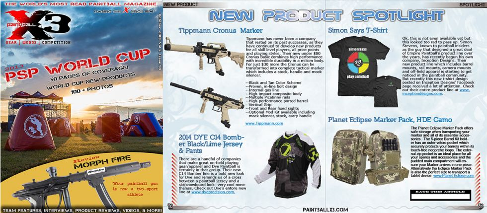 PaintballX3 Magazine, October 2013 Issue is Live