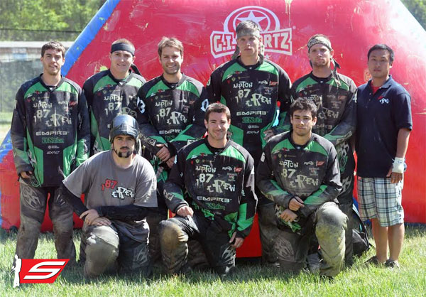 Upton 187 Crew and Fox4 Paintball Sign with G.I. Sportz for 2014
