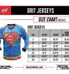 Social Paintball Custom Jersey Size Chart
