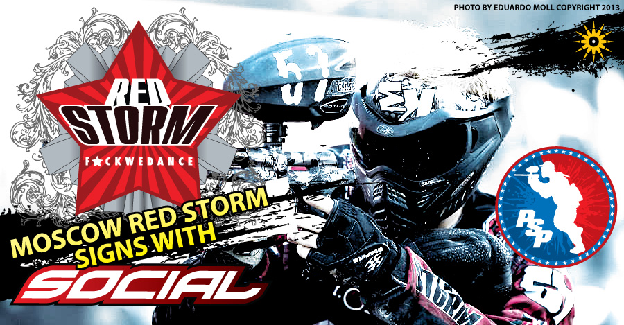 Red Storm Signs with Social Paintball for 2014