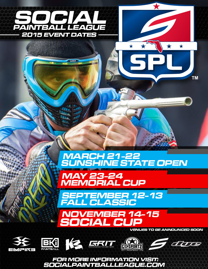 2015 SPL (Social Paintball League) Event Schedule Announced