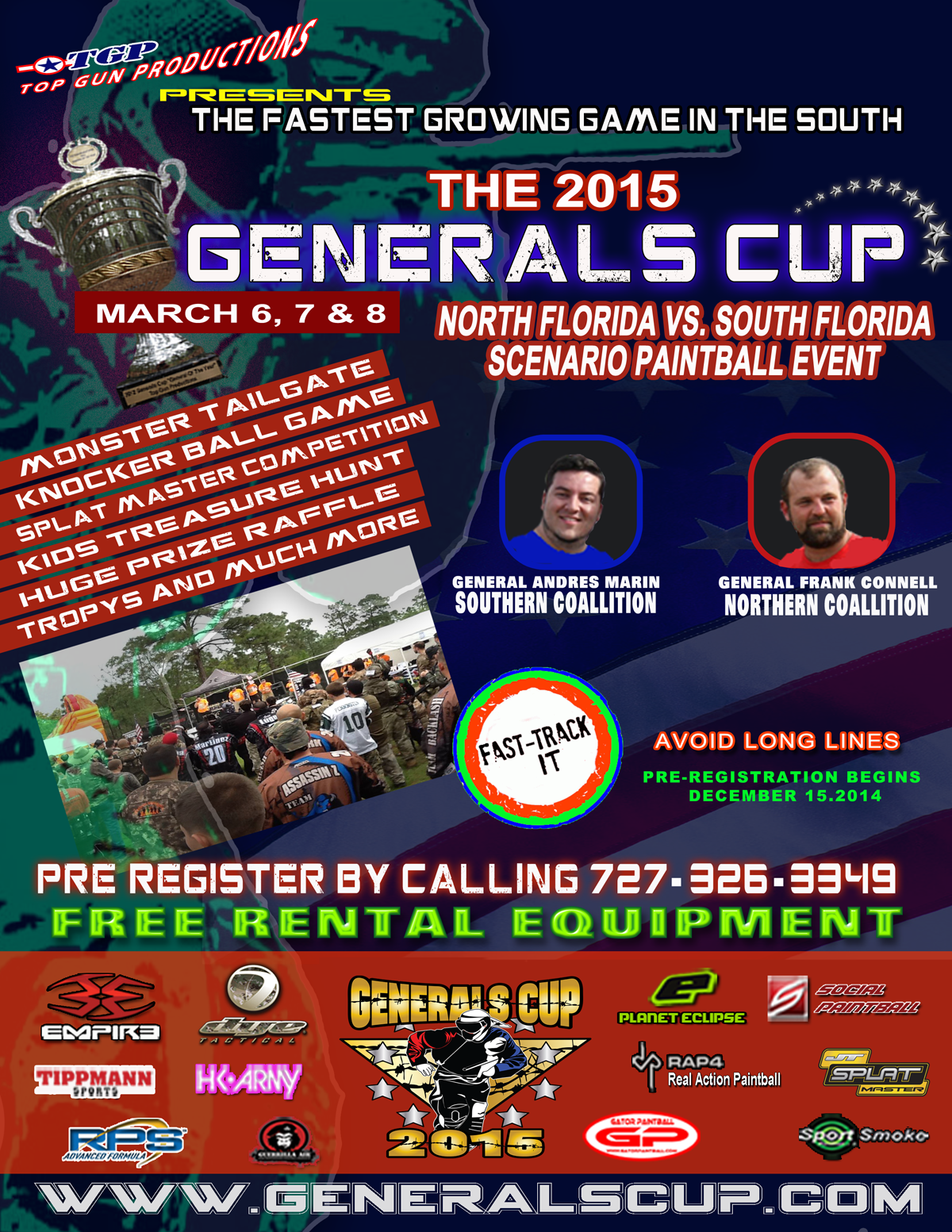Register for the 2015 Generals Cup