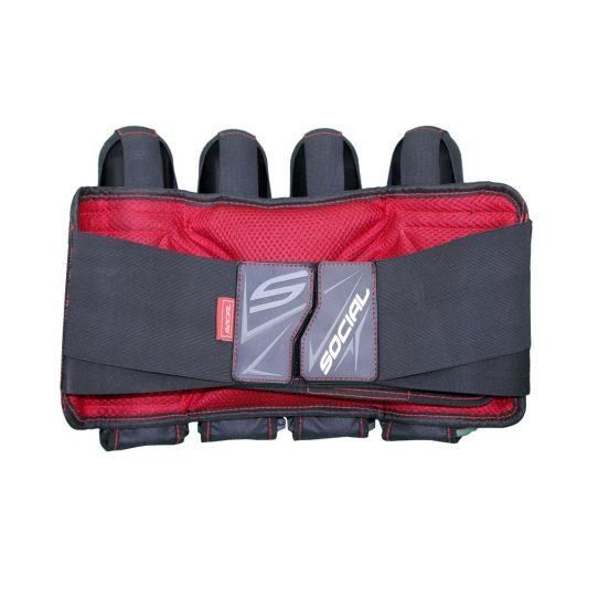 Social Paintball Grit Pack Harness 4 + 7 Black Red Back