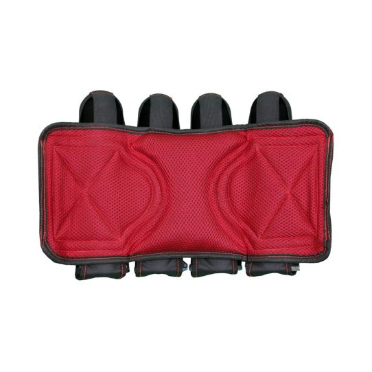 Social Paintball Grit Pack Harness 4 + 7 Black Red Lumber Support