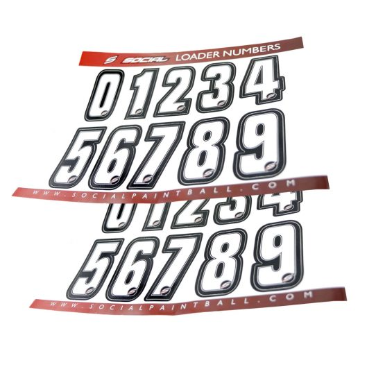 Social Paintball Loader Numbers Sheets