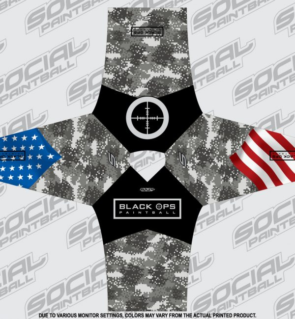 SMPL Custom Jersey Black Ops Paintball Jersey