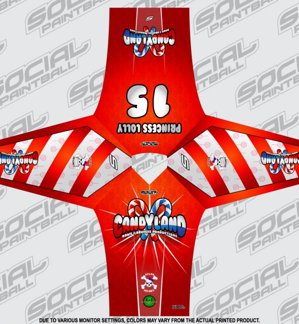 SMPL Social Paintball Jersey Candyland Red