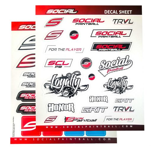 Social Paintball Stickers Decal Sheet Set of 2