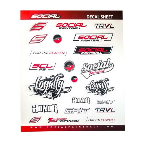 Social Paintball Stickers Decal Sheet Set New Stickers