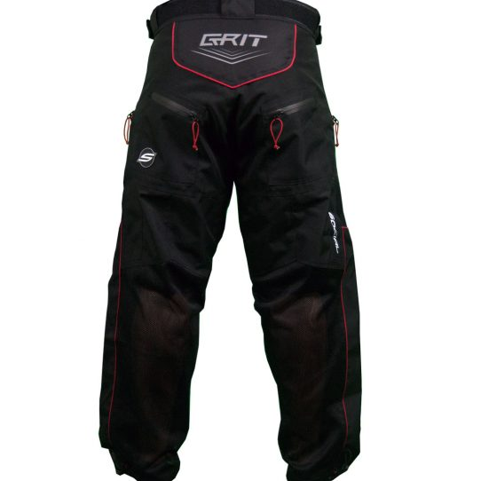 Social Paintball Grit v3 Paintball Pants Woodland Black Red Back
