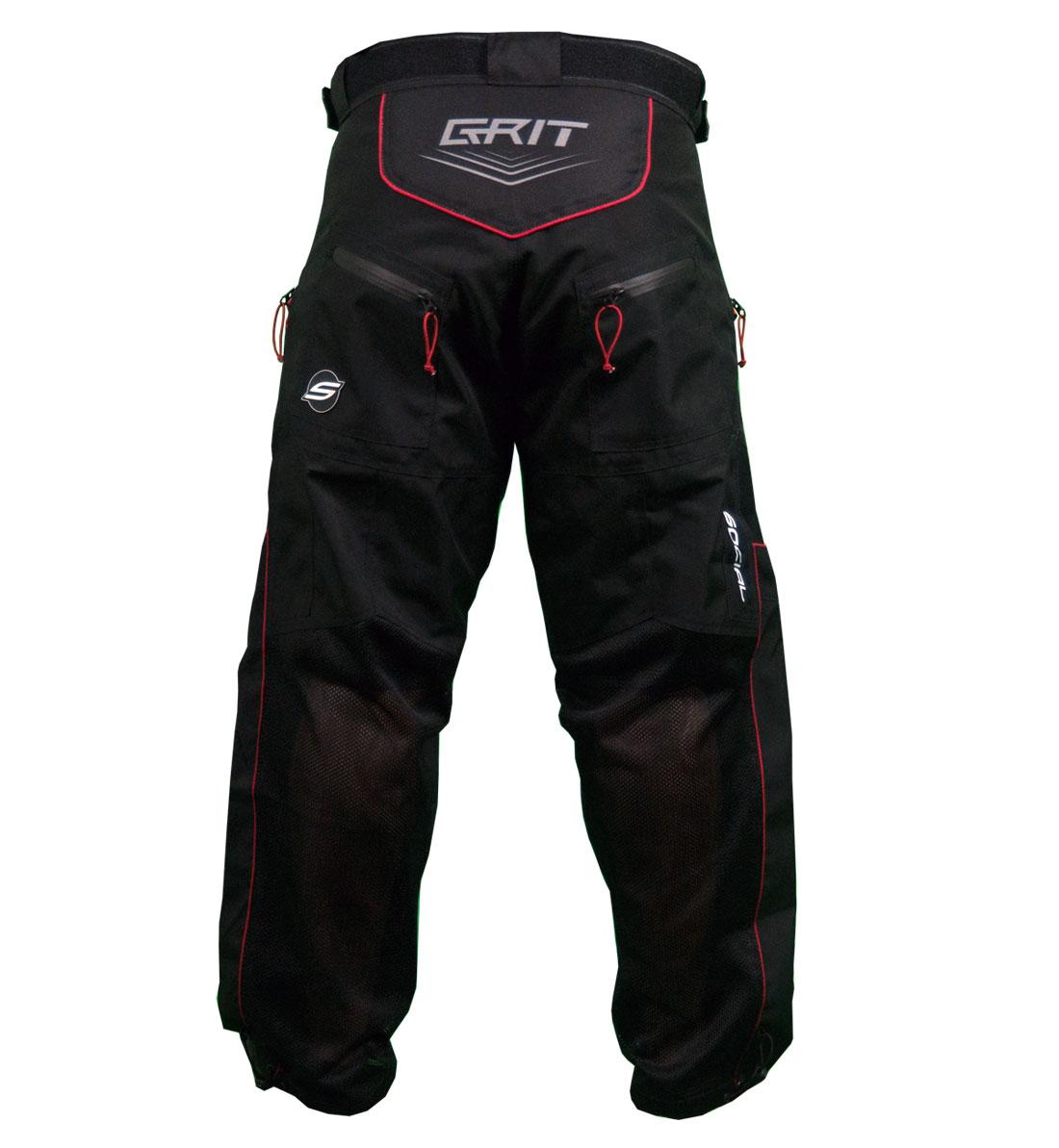 Grit V3 Paintball Pants Black Red Social Paintball