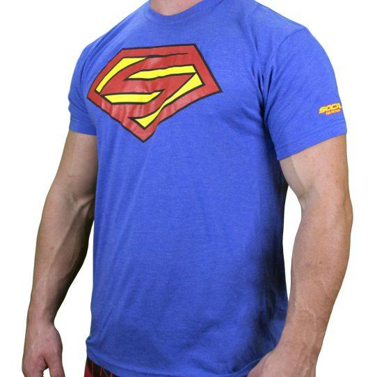 mens shirt super social blue