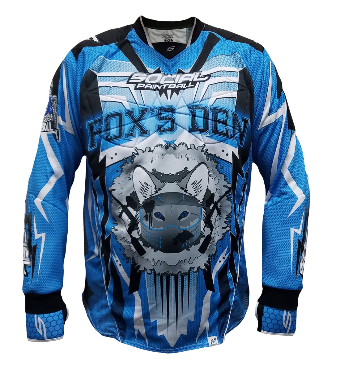 0c651d437 Fox s Den Full Padded Flex Jersey