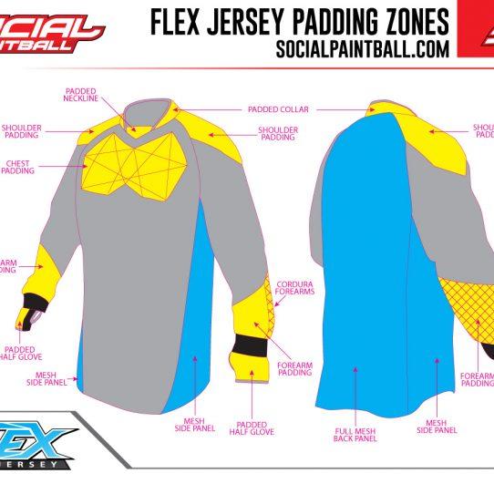 Social Paintball Flex Full Padded Jersey Padding Zones