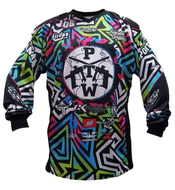 PTW social paintball jersey front unpadded