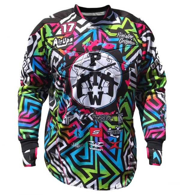PTW social paintball jersey front padded