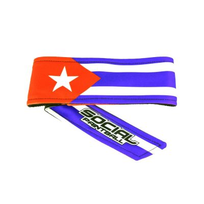 Social Paintball Headband Cuban Flag