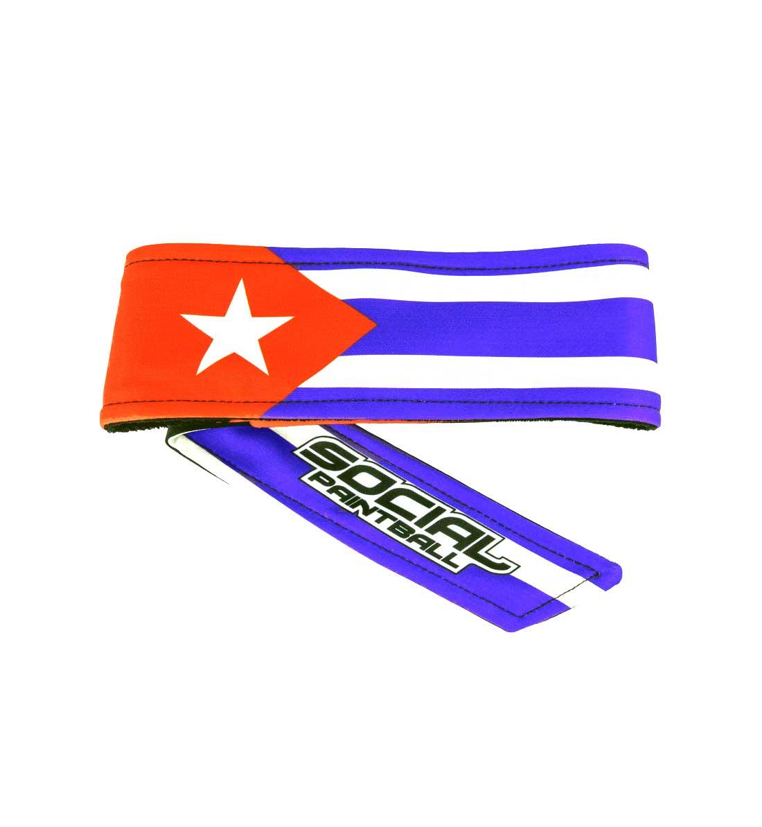 WRISTBAND Cuba Flag SWEATBAND 7x8cm