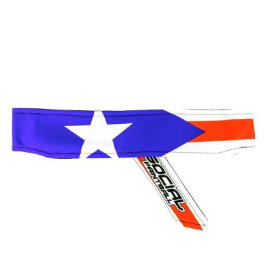 puerto rico flag Headband Social Paintball