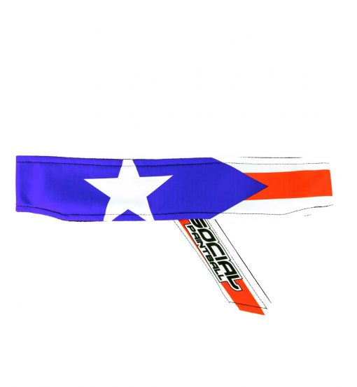 puerto rico flag Headband Social Paintball