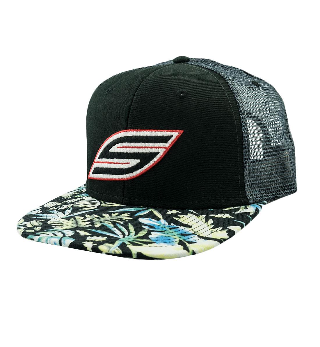 1b5b50b6 Snapback Hat, Black Flower Trucker - Social Paintball