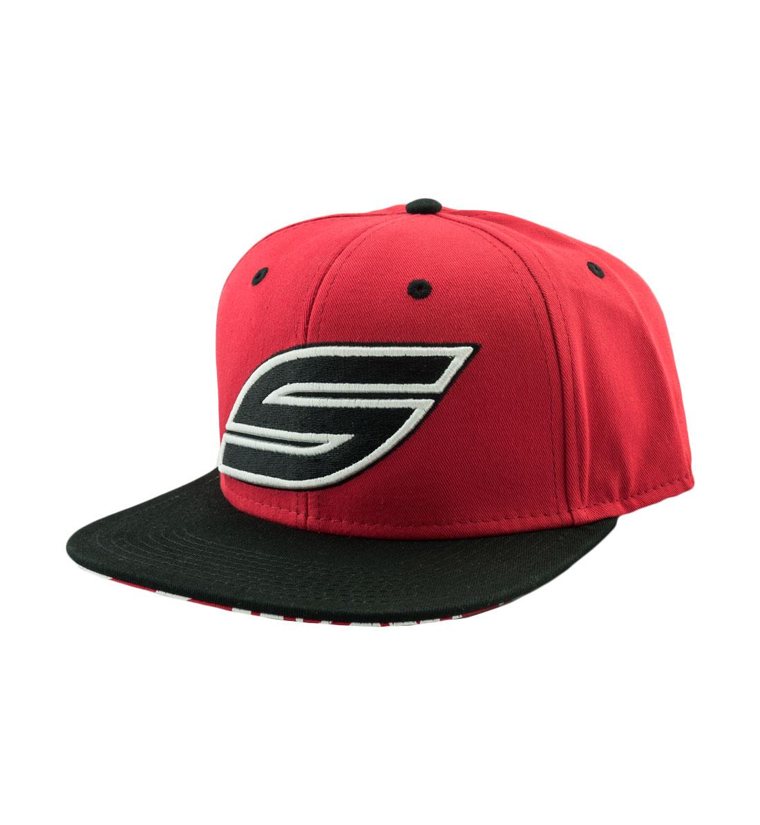 f789e1176 Snapback Hat, Red Black, Black S