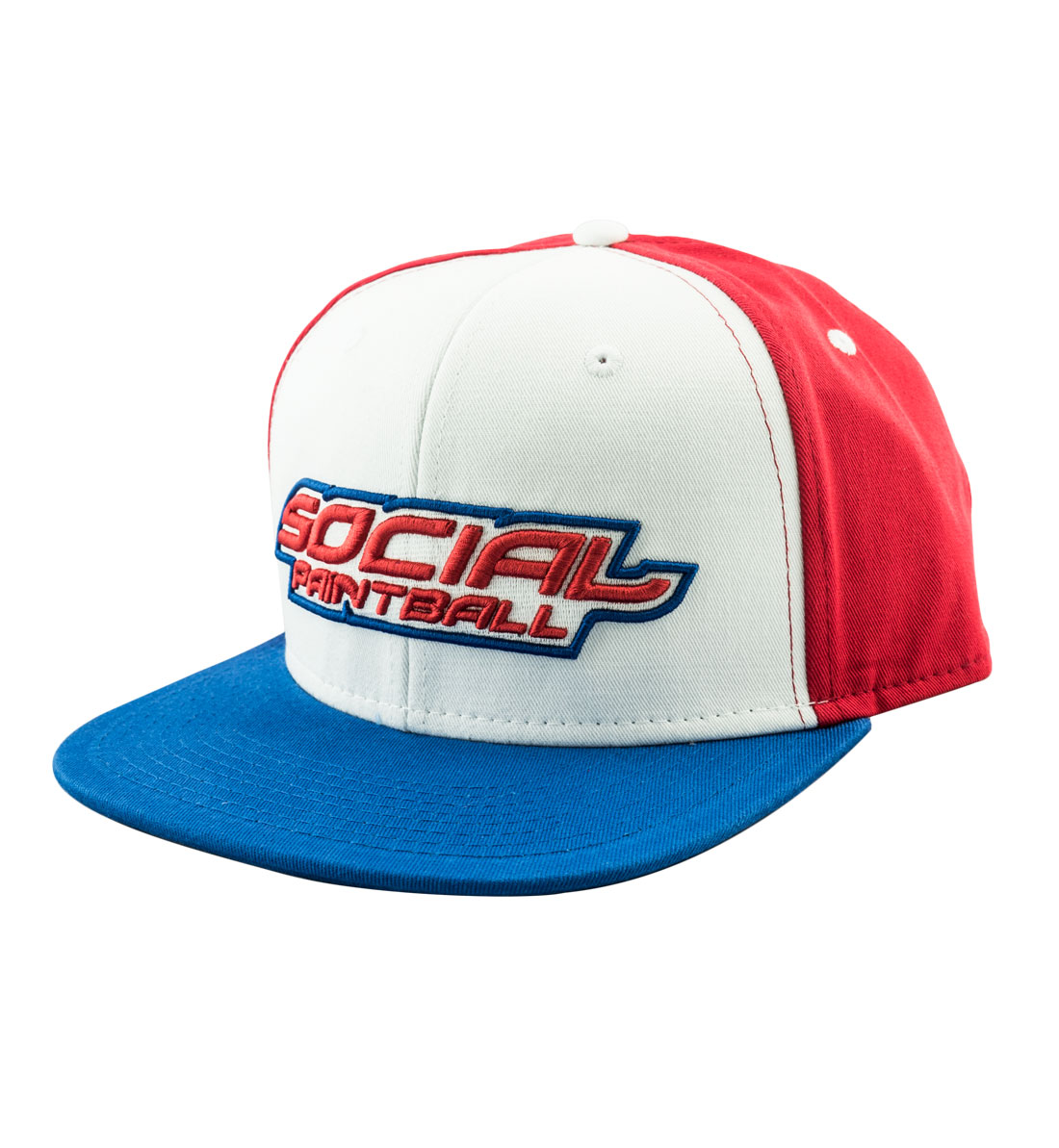 961a0fb1aa1953 Snapback Hat, Social USA, Red White, Blue Bill - Social Paintball