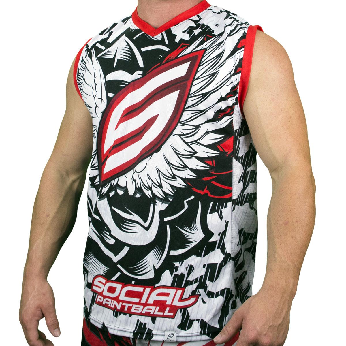 20699ea35 Grit Sleeveless Jersey, Wings - Social Paintball