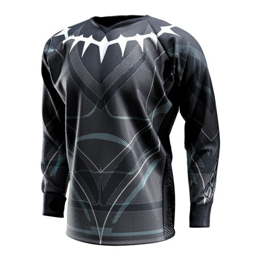 Black Panther - King T'Challa, Unpadded SMPL Paintball Jersey Front