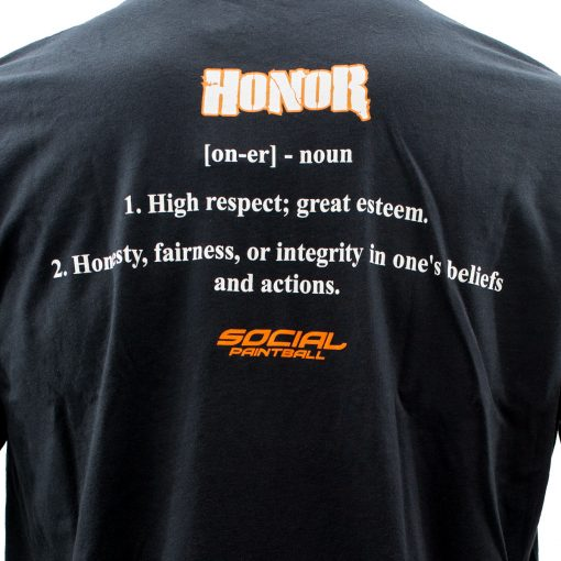 Social Paintball Men's Crew Shirt, Honor Black Back