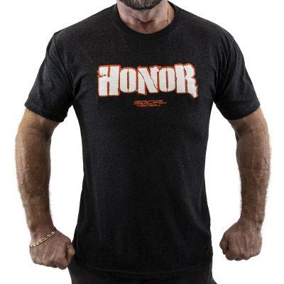 Social Paintball Men's Crew Shirt, Honor Black