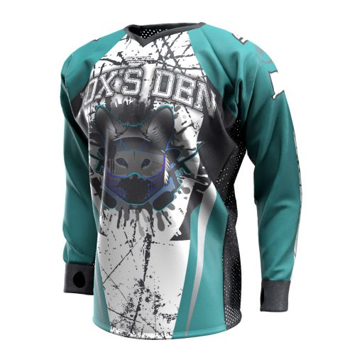 Fox's Den Unpadded SMPL Jersey, Connecticut Teal Front