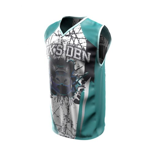 Fox's Den Sleeveless Jersey, Connecticut Teal Front