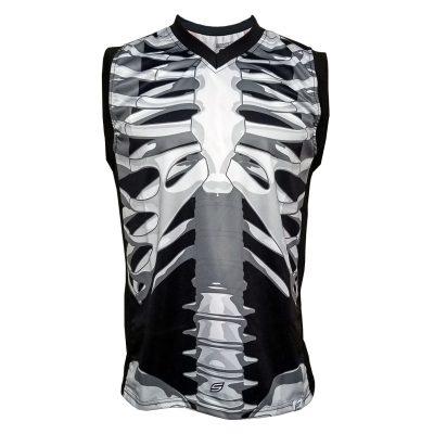 Social Paintball Grit Sleeveless Jersey, Skeleton Bones Front