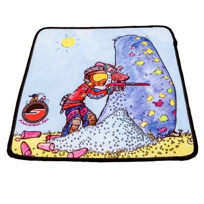 Microfiber Cleaning Cloth, Sponsored, Paintball Cartoon Series
