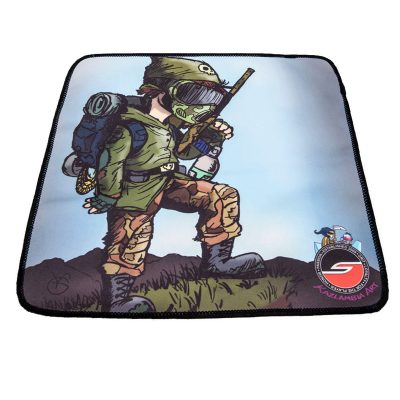 Microfiber Cleaning Cloth, Weekend Warrior, Paintball Cartoon Series