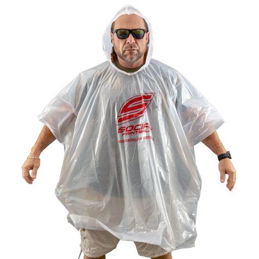 Social Paintball Rain Poncho, Clear